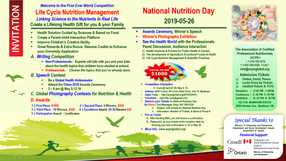 2019 National Nutrition Day Invitation Letter | ACPN